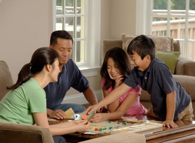 Gezelschap spelletjes gezin
