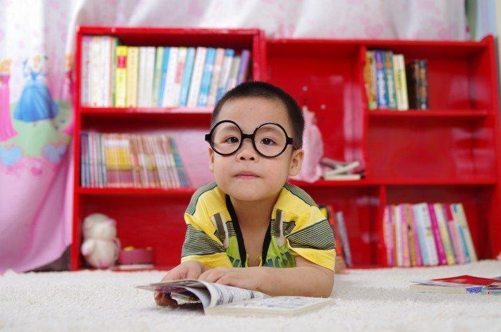 bibliotheek met kind