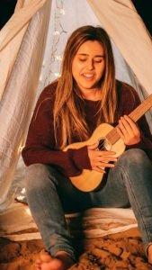 muzikale vrouw hobby