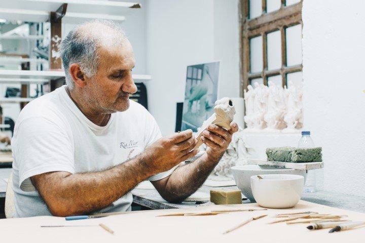 Creatieve hobby ouderen
