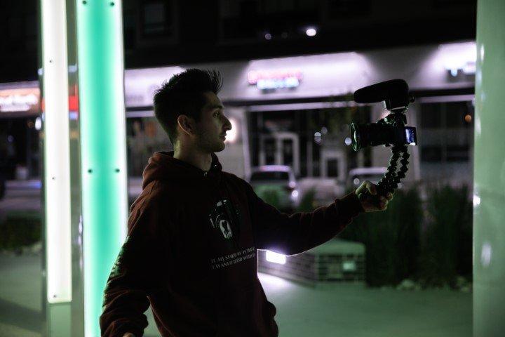 Youtuber vlogger